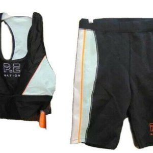P.E. Nation Camber Sports Bra and Shorts Set L NWT